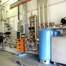 Sous-station distribution fluide caloporteur solaire
