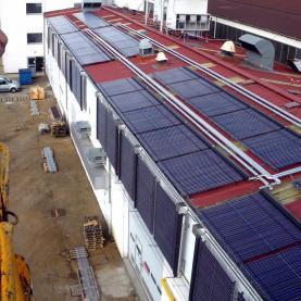 Panneaux solaires eau chaude sous vide - surface 400 m²