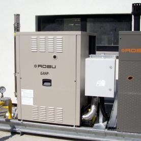 PAC GAZ ROBUR 30 kw, chauffage climatisation de bureaux