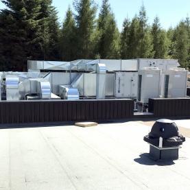 5 CTA double flux débit 15 000 m3/h et 2 cimatisations VRF